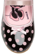 Spotted ballerina shoes - Black/Minnie Mouse - Kids | H&M CN 4