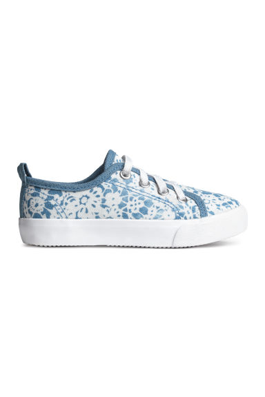 Canvas trainers - Blue/Patterned - Kids | H&M