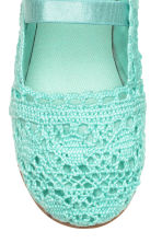 Lace-patterned ballet pumps - Mint green - Kids | H&M 3