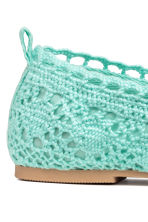 Lace-patterned ballet pumps - Mint green - Kids | H&M 4