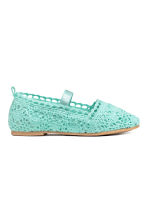 Lace-patterned ballet pumps - Mint green - Kids | H&M 1