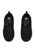 Lace-patterned ballet pumps - Black - Kids | H&M CN 3