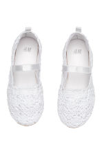 Lace-patterned ballet pumps - White - Kids | H&M CN 2