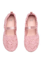 Lace-patterned ballet pumps - Pink - Kids | H&M CN 2