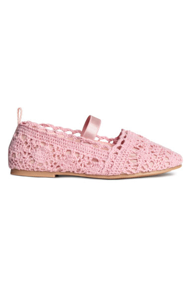Lace-patterned ballet pumps - Pink - Kids | H&M CN 1