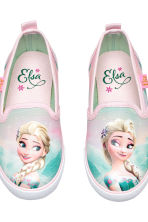 Slip-on trainers - Light pink/Frozen - Kids | H&M CA 4