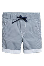 Cotton shorts - Dark blue/Striped -  | H&M 2