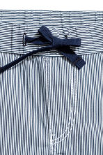 棉質短褲 - Dark blue/Striped -  | H&M 3