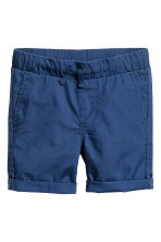 Cotton shorts - Dark blue -  | H&M 2