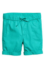 Cotton shorts - Dark mint green -  | H&M CN 2