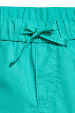 Cotton shorts - Dark mint green -  | H&M CN 3