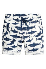 Cotton shorts - White/Sharks -  | H&M CA 2