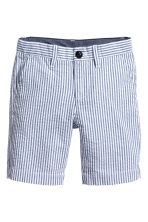 斜纹短裤 - White/Dark blue/Striped - Kids | H&M CN 2
