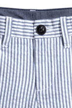 斜纹短裤 - White/Dark blue/Striped - Kids | H&M CN 3