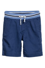Pull-on shorts - Dark blue - Kids | H&M 1