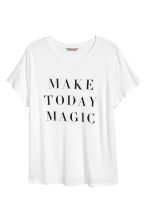 H&M+ Printed jersey top - White -  | H&M 2