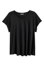 H&M+ Top in jersey - Nero - DONNA | H&M IT 2