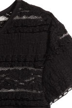 H&M+ Top with a lace yoke - Black -  | H&M 3