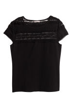 H&M+ Top with a lace yoke - Black -  | H&M 2
