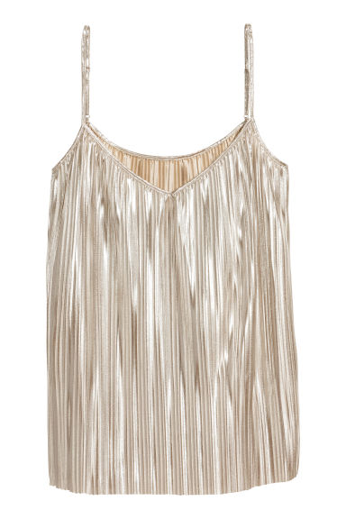 H&M+ Pleated top - Silver - Ladies | H&M IE