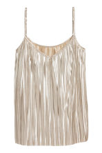 H&M+ Pleated top - Silver - Ladies | H&M 1