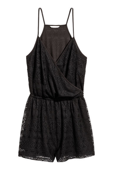 H&M+ Lace playsuit - Black -  | H&M 1