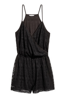 H&M+ Lace playsuit