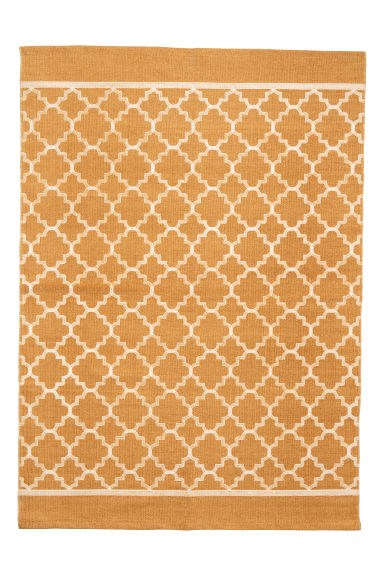 Tapis à motif en coton - Jaune moutarde - Home All | H&M FR 1