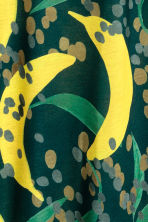H&M+ Patterned tunic - Dark green/Banana - Ladies | H&M 3