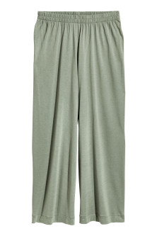 H&M+ Wide jersey trousers