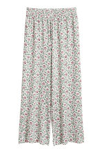 H&M+ Wide jersey trousers - White/Floral -  | H&M 2