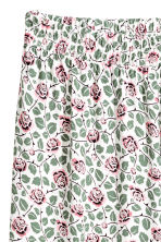 H&M+ Wide jersey trousers - White/Floral -  | H&M 3
