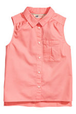 Sleeveless blouse - Coral pink - Kids | H&M 2