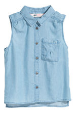 Sleeveless blouse - Blue -  | H&M 2