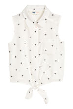 Tie-front blouse - White - Kids | H&M 2