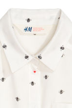 Tie-front blouse - White - Kids | H&M 3