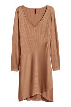Ribbed jersey dress - Dark beige - Ladies | H&M 2