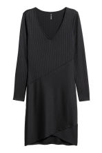 Ribbed jersey dress - Black - Ladies | H&M CA 2