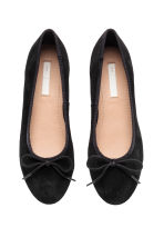 Suede ballet pumps - Black - Kids | H&M CN 2
