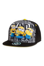 Cap with a print motif - Black/Minions - Kids | H&M CN 1