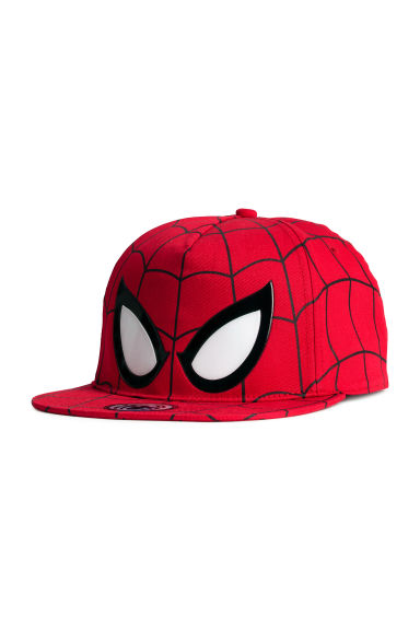 Cap with a print motif - Red/Spiderman - Kids | H&M
