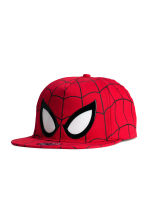 Cap with a print motif - Red/Spiderman - Kids | H&M 1