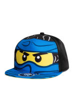 Cap with a print motif - Light blue/Lego - Kids | H&M 1