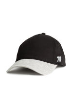 Cotton cap with embroidery - Black - Kids | H&M 1
