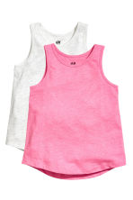 2-pack vest tops - Neon pink - Kids | H&M 2