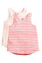 2-pack vest tops - Light pink -  | H&M 2