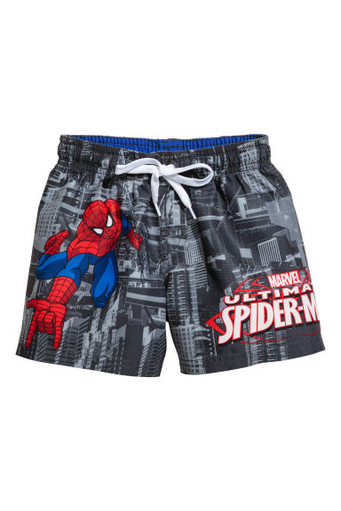 Swim shorts - Dark grey/Spiderman -  | H&M