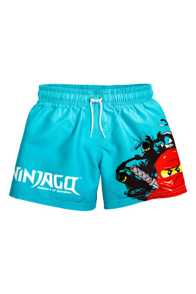 Swim shorts - Turquoise blue/Lego - Kids | H&M CN 1