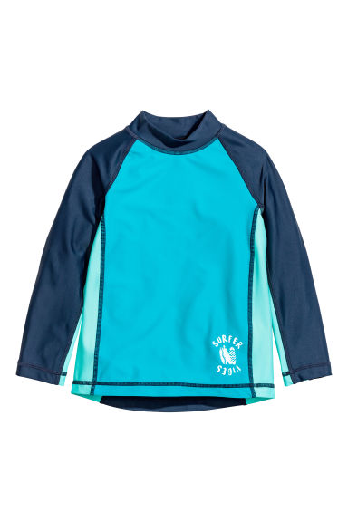 T-shirt with UPF 50 - Turquoise/Dark blue - Kids | H&M 1