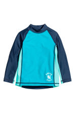 T-shirt with UPF 50 - Turquoise/Dark blue - Kids | H&M CN 1